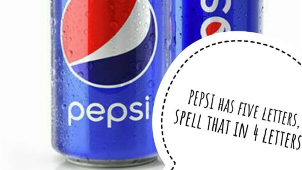 Pepsi can with riddle