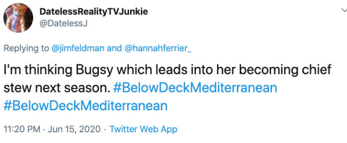 Fans think Bugys is returning to Below Deck Med.