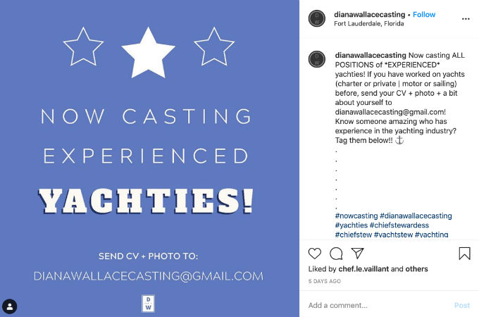 Casting calls for Season 2 of Below Deck Sailing Yacht are happening now.