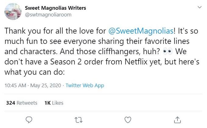 Sweet Magnolias Writers on Twitter