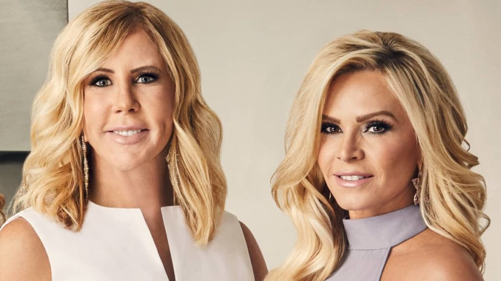 Tamra Judge and Vicky Gunvalson pose for a promo photo