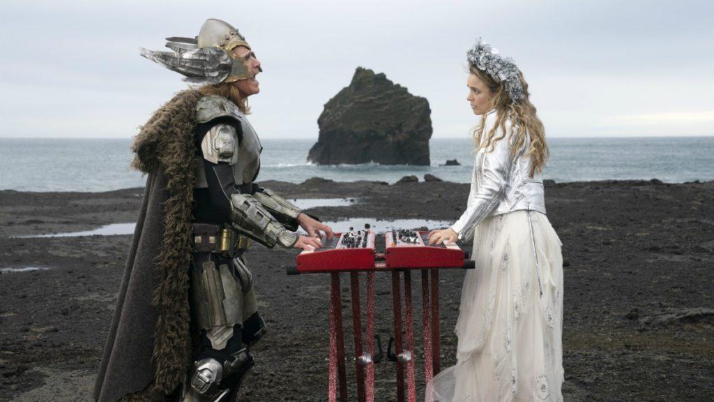 Will Ferrell as Lars Erickssong, Rachel McAdams as Sigrit Ericksdottir in Eurovision Song Contest: The Story of Fire Saga