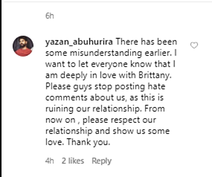 Yazan has a message for haters