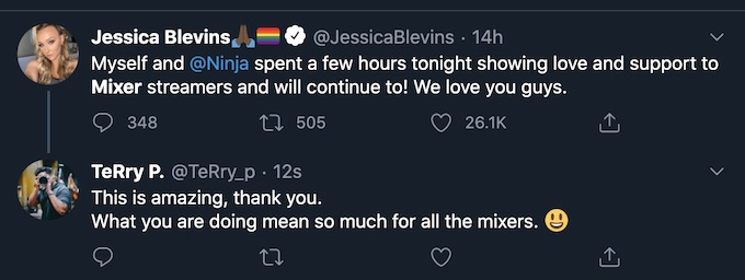 jessica blevins offers mixer support