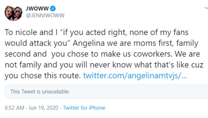 JWoww took aim at Angelina Pivarnick after the Jersey Shore Family Vacation finale