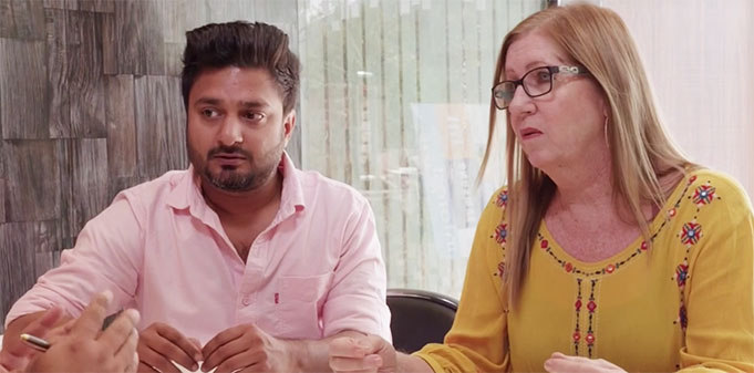 90 Day Fiance couple Jenny and Sumit talk to a divorce attorney