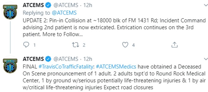 ATCEMS accident tweet