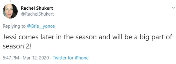 Tweet from BSC showrunner