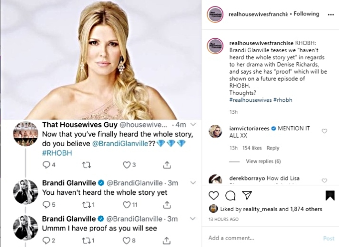 Brandi says she has proof