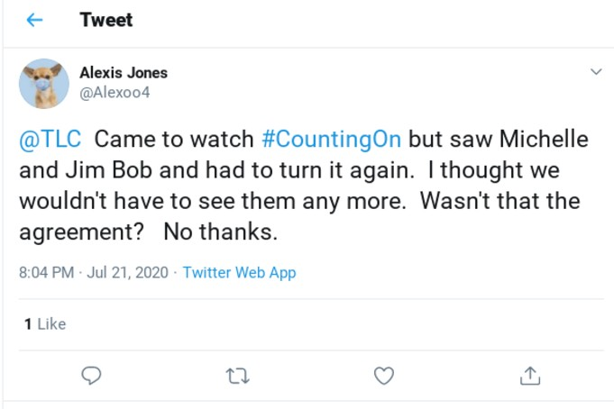 Counting On Twitter complaint.