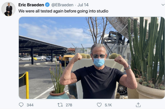 Eric Tweets picture of return to Y&R.