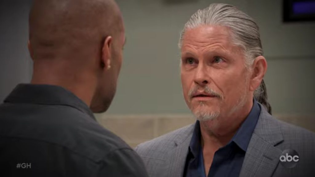 Donnell Turner and Jeff Kober as Curtis and Cyrus on General Hospital.