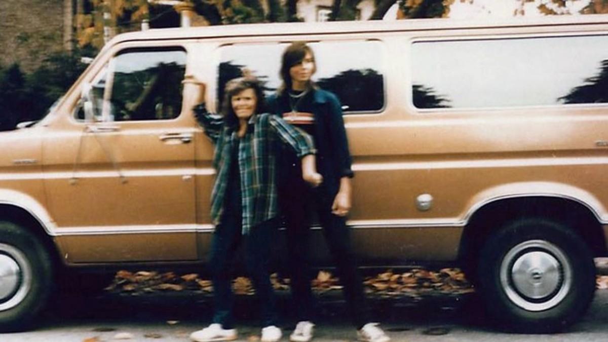 Jay Cook and Tanya Van Cuylenbourg pose with their van