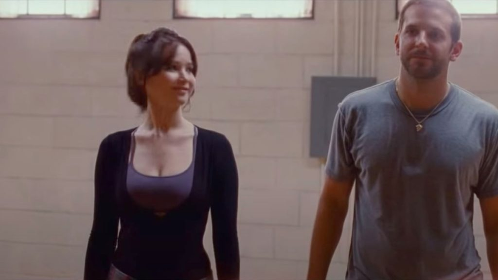 Jennifer Lawrence and Bradley Cooper from Silver Linings Playbook