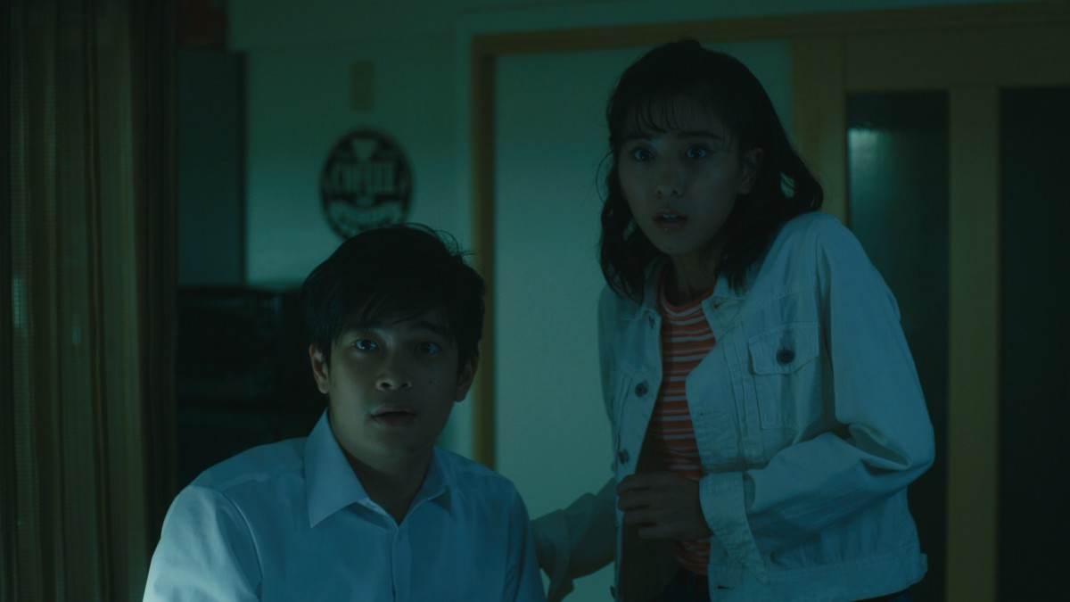 Kai Inowaki as Tetsuya on left, Yuina Kuroshima as Haruka on right