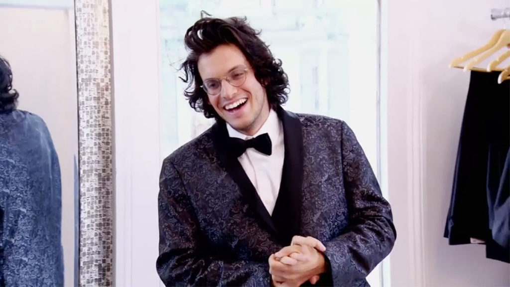 MAFS Bennett laughing in his tux