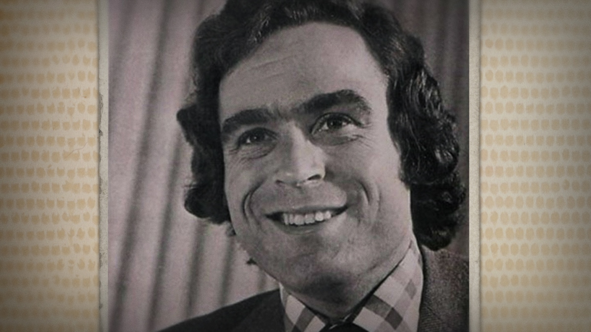Old photo of Ted Bundy from Conversations with a Killer.