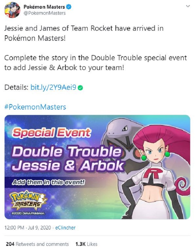 Pokemon Masters Double Trouble special event