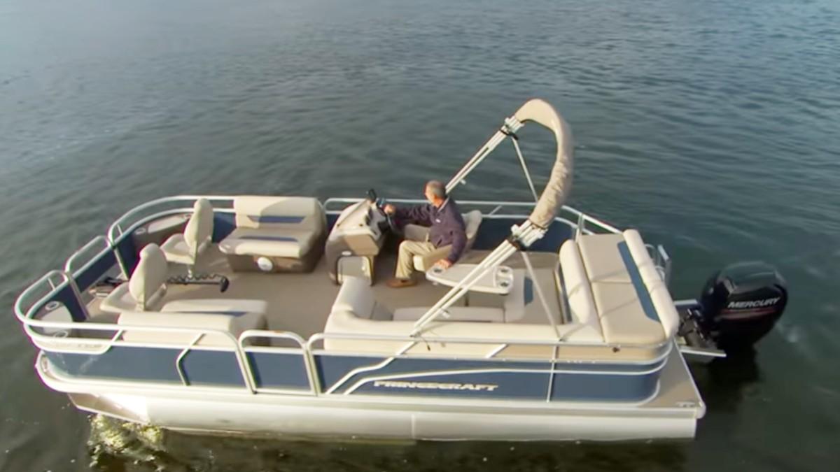 A pontoon boat