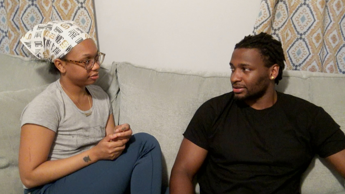 Shawniece and Jephte on Married at First Sight Couples Cam