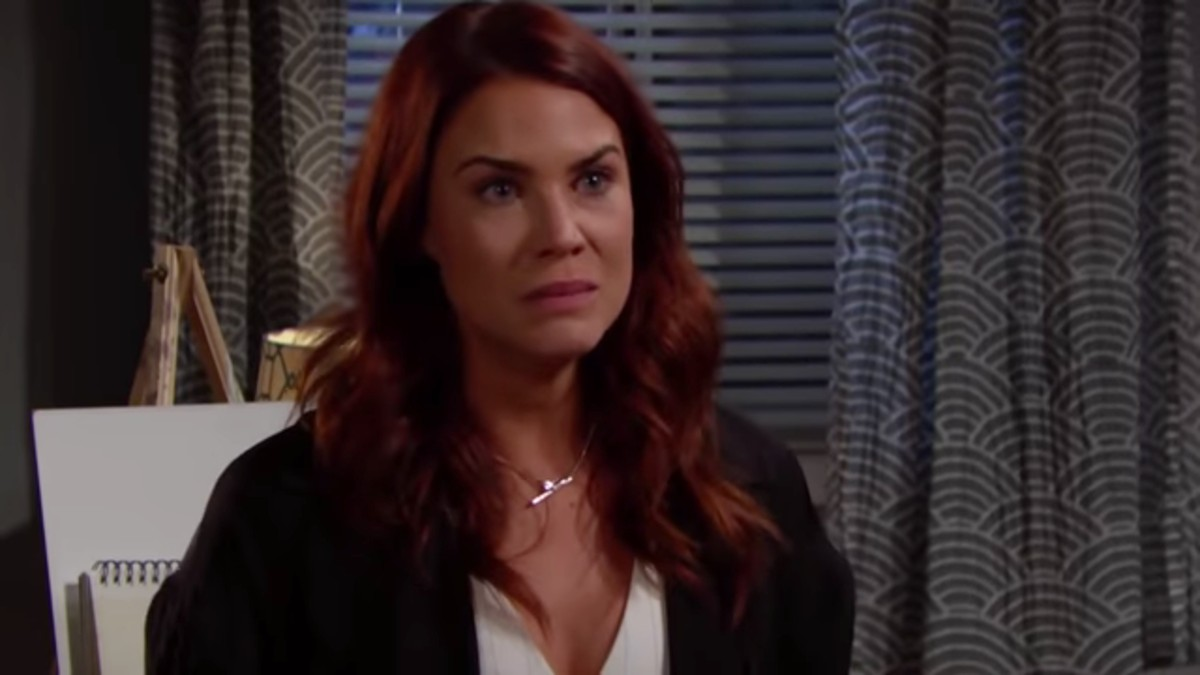 Courtney Hope as Sally on The Bold and the Beautiful.