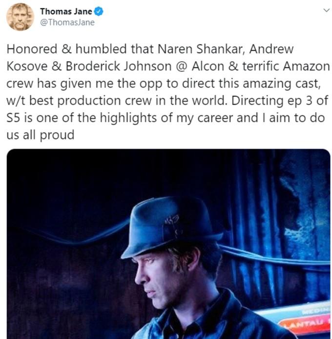 Tweet by actor Thomas Jane