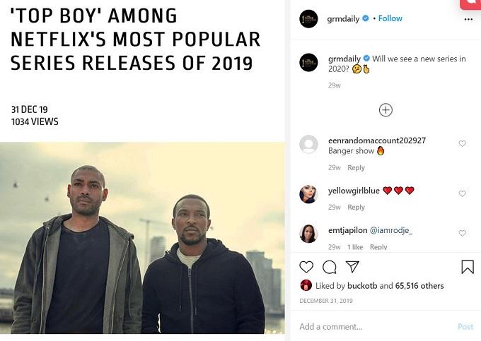 Top Boy Season 4 Instagram