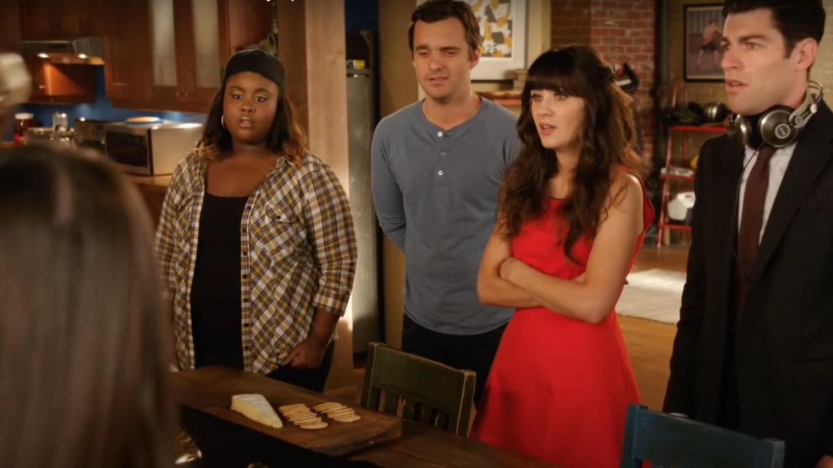 Zooey Deschanel, Jake Johnson, Raven Goodwin, and Max Greenfield from New GirlZooey Deschanel, Jake Johnson, Raven Goodwin, and Max Greenfield from New Girl