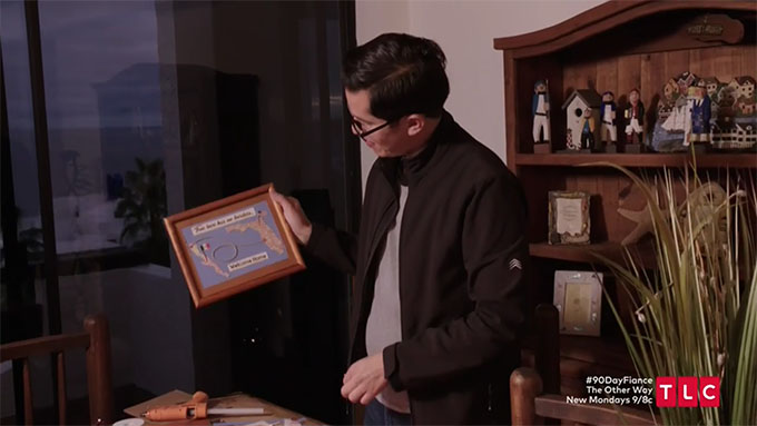 armando holding picture frame he made on 90 day fiance
