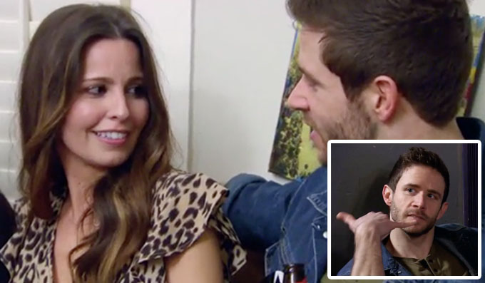 MAFS Brett hitting on girl and making a call me hand gesture