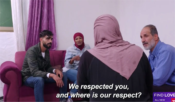 Yazan's parents asking Brittany why she doesn't show them respect