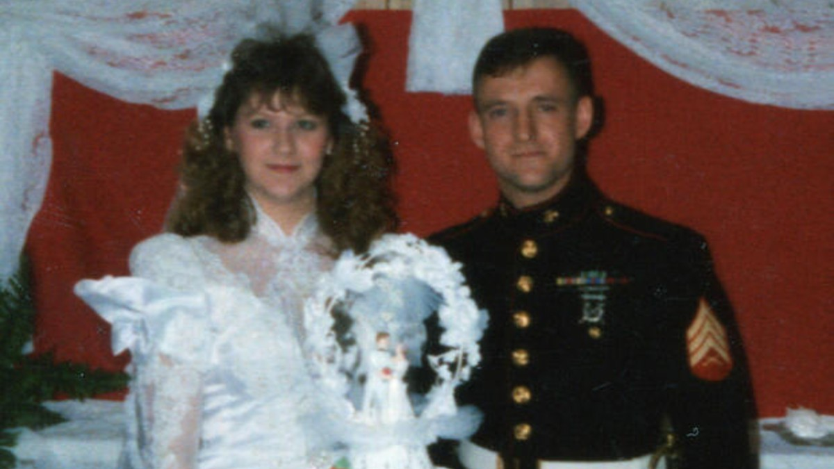 James 'Houston' Glass and Wendy Glass on their wedding day
