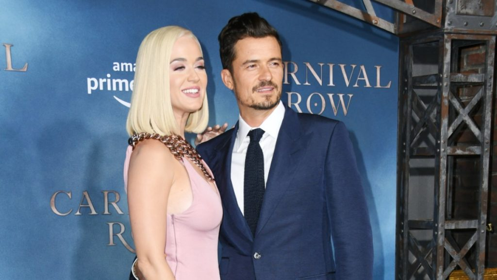Katy Perry and Orlando Bloom on the red carpet