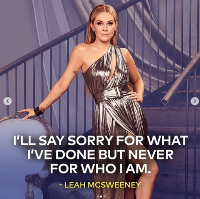 Leah Mcsweeny has a new tagline