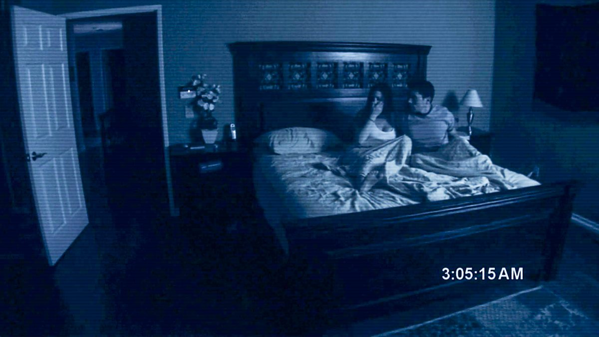 Katie Featherston and Micah Sloat in Paranormal Activity.