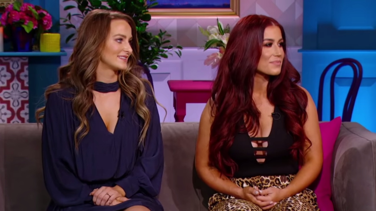Leah and Chelsea during last season's reunion. Pic credit: MTV