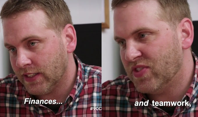 90 day fiance other way Tim saying Finances and Teamwork looking confused