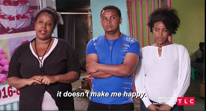 90 day fiance other way Biniyam's family looking intimidating