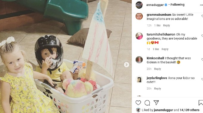 Anna Duggar's comments on her Instagram post.