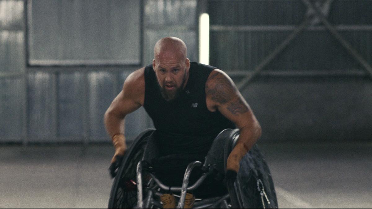 Athlete Ryley Batt in the documentary Rising Phoenix.