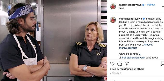 Captain Sandy Kiko Instagram message