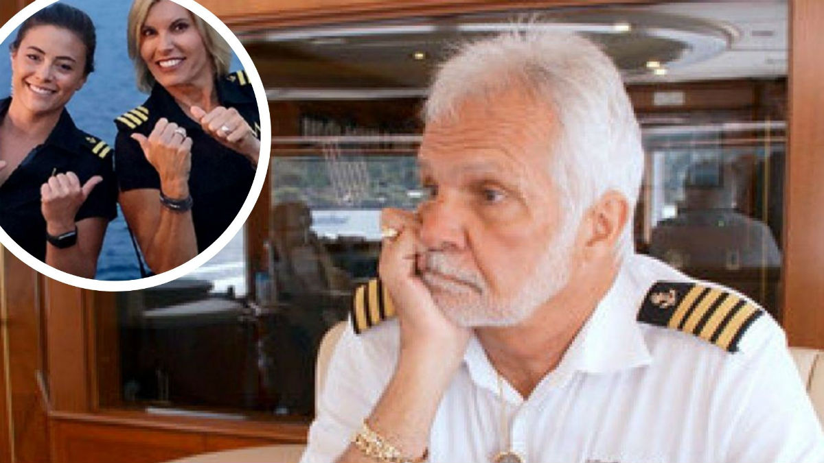 Captain Lee calls out Captain Sandy for yacht hierarchy.