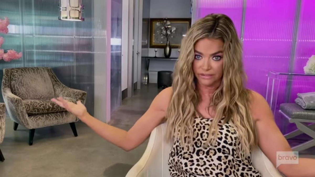 Denise Richards in a RHOBH confessional.