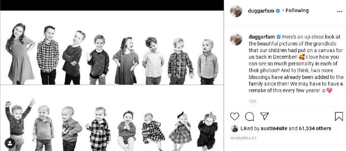 The photo of the grandchildren.