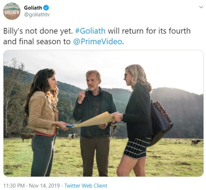 Tweet from Goliath