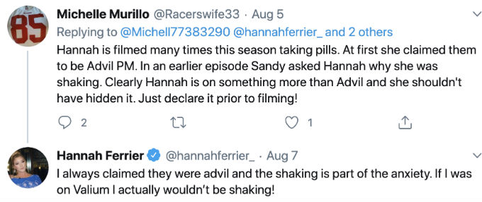 Below Deck Med's Malia and Hannah are sticking to their guns in the valium drama.