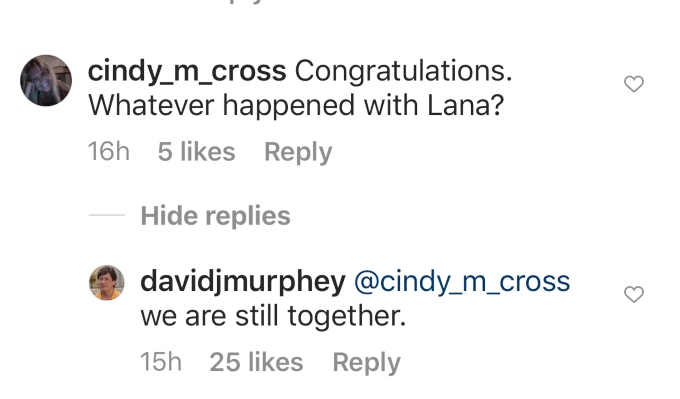 David says he and Lana are together