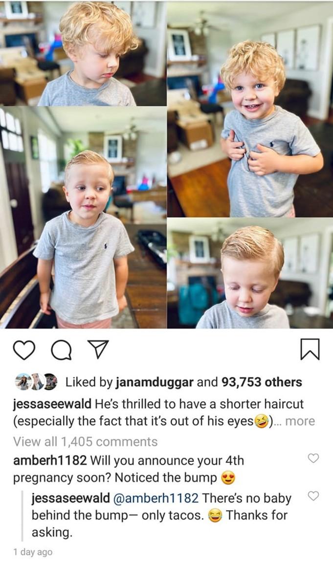 Jessa Duggar reponds to a fan.