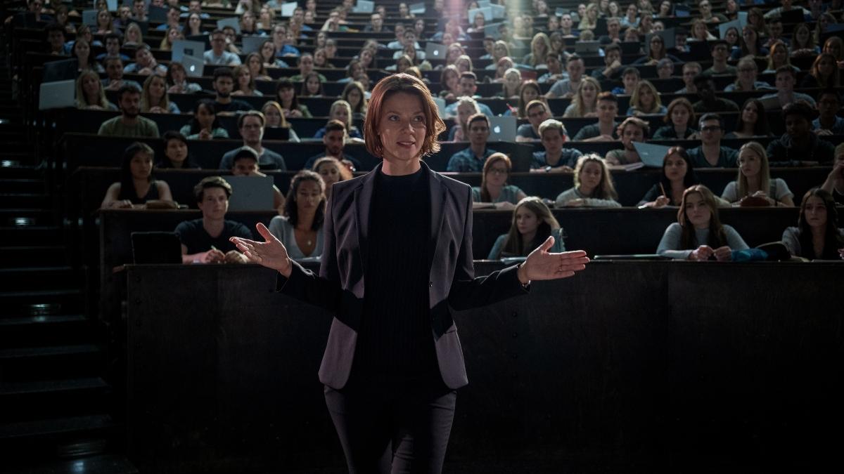 Jessica Schwarz as Professor Lorenz in Biohackers