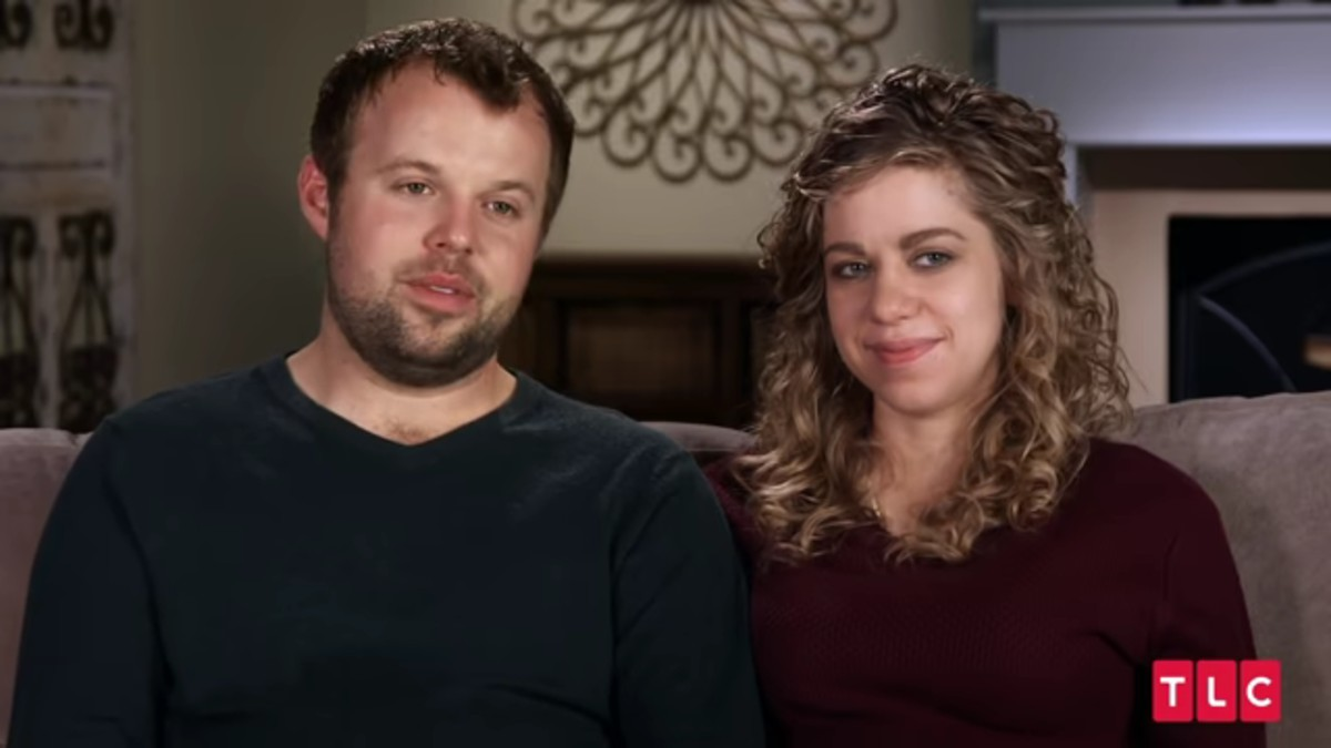 John-David and Abbie Grace Burnett in a Counting On confessional.